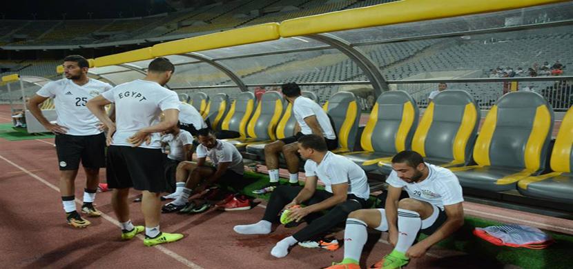 مران منتخب مصر استعدادا لمباراة اوغندا