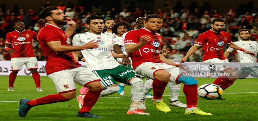 لقطة من مباراة الاهلي والمصري