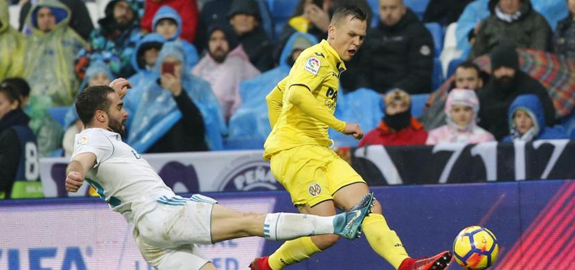 لقطة من مباراة ريال مدريد وفياريال