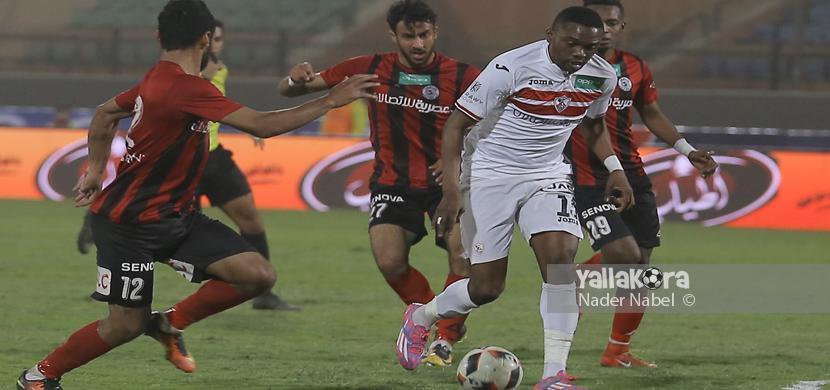 لقطة لمعروف يوسف فى المباراة