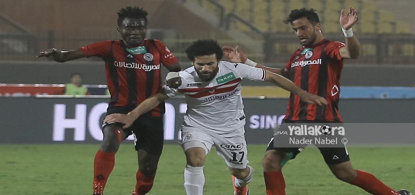 باسم مرسي وسط لاعبي الداخلية