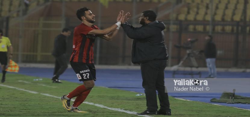 احتفال ناصر منسي مع علاء عبد العال