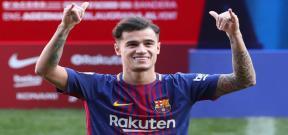 الكشف عن رقم قميص كوتينيو مع برشلونة