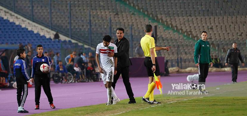 طرد محمد ابراهيم لاعب الزمالك