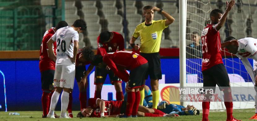 إصابة ازارو فى المباراة