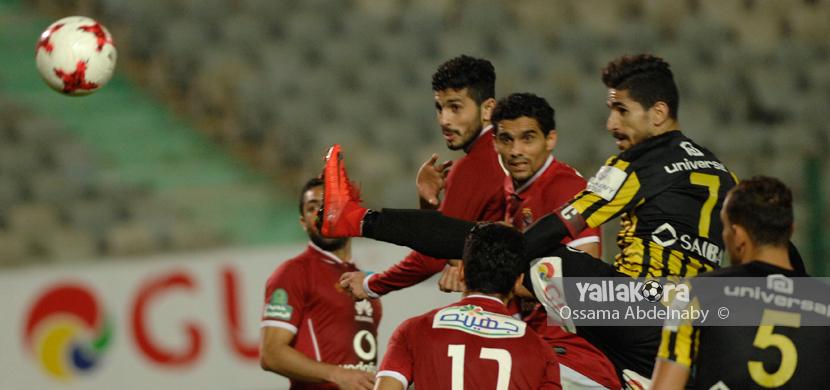 رأسية لمحمد فاروق لاعب المقاولون