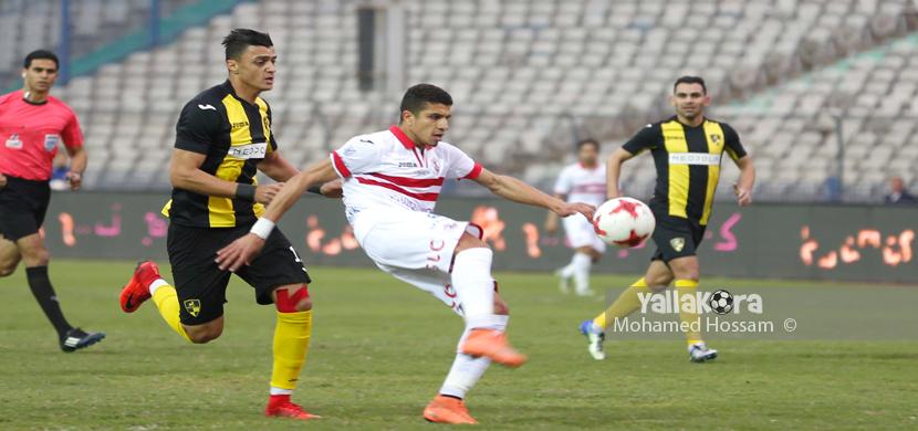 لقطة لمحمد عبد الغني فى المباراة