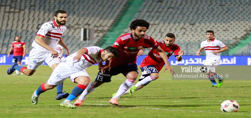 لقطة من مباراة النصر والزمالك