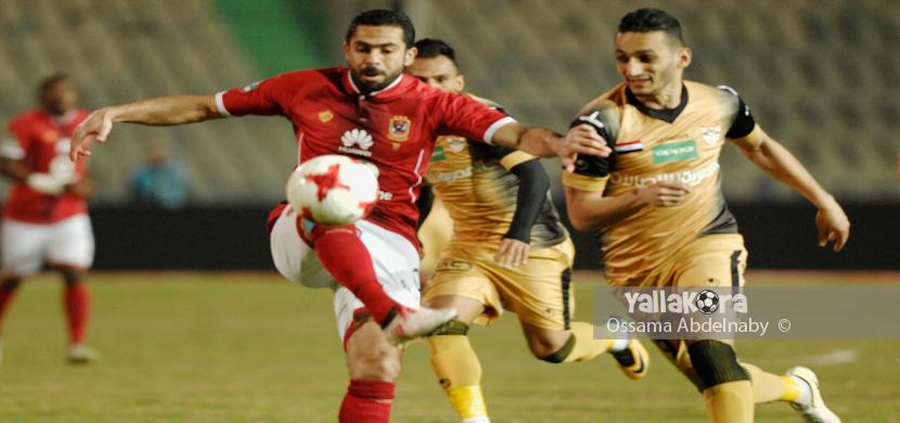 احمد فتحي يسدد على مرمى الانتاج