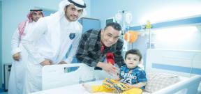 زيارة الحضري ومتعب لمستشفي الأطفال بالسعودية