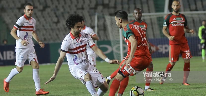 لقطة لباسم مرسي فى المباراة