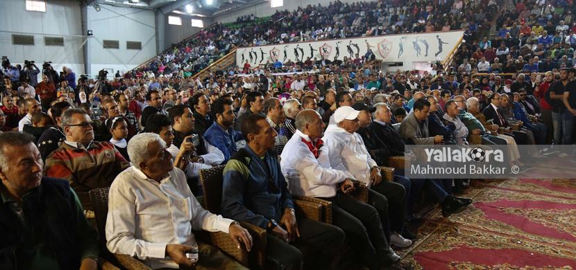 جانب من حضور الجماهير لمؤتمر مرتضى منصور