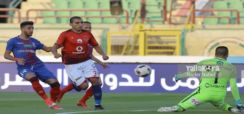 فرصة ضائعة من أحمد حمدي أمام بتروجيت