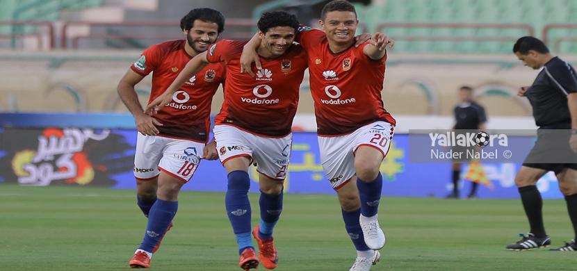 فرحة سعد سمير ونجيب ومروان في المباراة