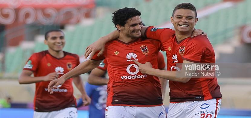 فرحة سعد سمير ونجيب في المباراة