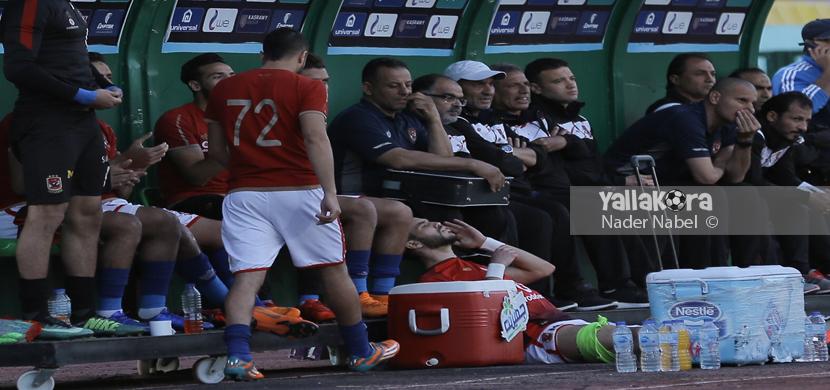 وليد أزارو بعد خروجه مصابا من المباراة