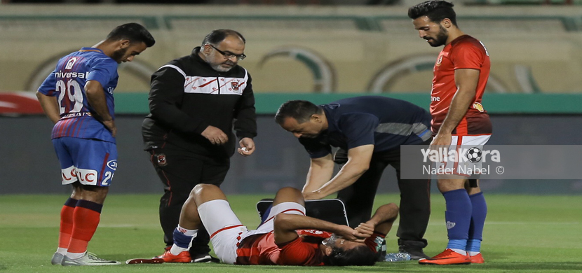 سقوط مروان محسن في مباراة بتروجيت