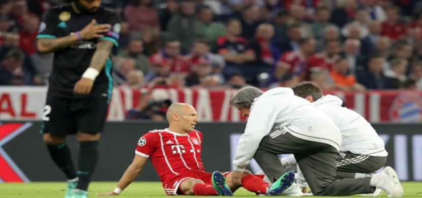 اصابة روبين فى المباراة