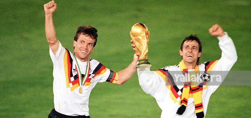تتويج منتخب ألمانيا بطلاً لمونديال 90