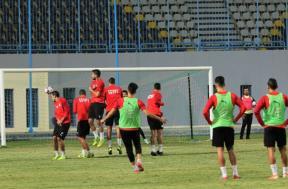 مران لاعبي منتخب مصر الأولمبي استعدادا للكاميرون