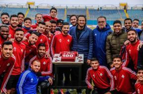 بيراميدز يحتفل بوصول السعيد لـ100 هدف في الدوري