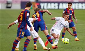 لقطات مباراة برشلونة وريال مدريد