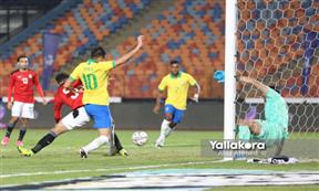 لقطات مباراة مصر الأوليمبي والبرازيل