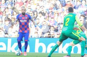 لقطات من مباراة برشلونة وإيبار
