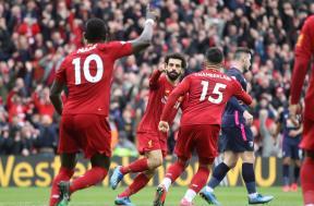 لقطات مباراة ليفربول وبورنموث