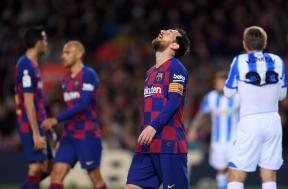 لقطات مباراة برشلونة وريال سوسيداد