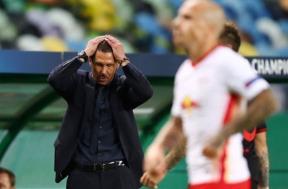 لقطات من مباراة لايبزيج واتلتيكو مدريد