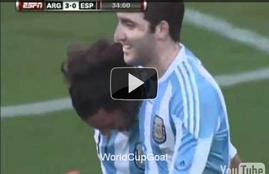 أهداف مباراة الأرجنتين واسبانيا