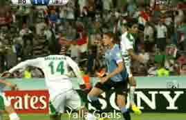 اهداف مباراة العراق وأوروجواي