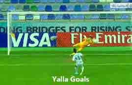 ضربات جزاء مباراة العراق وكوريا الجنوبية