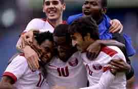 أهداف مباراة عمان وقطر