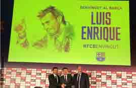 برشلونة يقدم انريكي لوسائل الإعلام