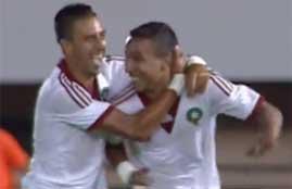 اهداف الشوط الأول للقاء مصر والمغرب