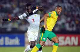اهداف لقاء جنوب أفريقيا والسنغال