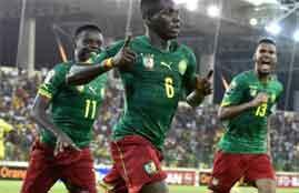 هدفا لقاء الكاميرون وغينيا