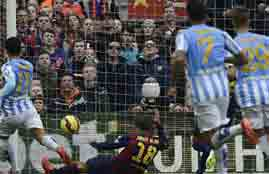 هدف مالاجا فى برشلونة