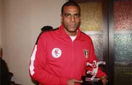 تكريم خاص لحمادة النقيب حارس منتخب مصر لكرة اليد