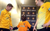 لقطة إنسانية من فريق برشلونة