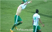 فرحة هيستيرية للاعبي المصري بالهدف الثاني