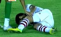 إصابة عمر جابر أمام المقاصة