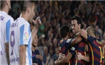 مباراة برشلونة ومالاجا في 6 دقائق