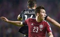 ملخص مباراة الدنمارك والبانيا