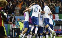 هدفا ايطاليا فى بلجيكا