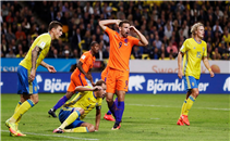 هدفا مباراة السويد وهولندا