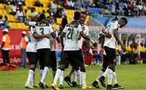 هدف غانا فى مرمى أوغندا