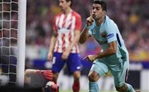 هدفا مباراة أتلتيكو مدريد وبرشلونة